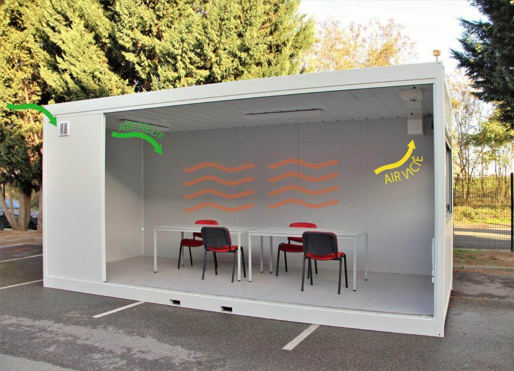 Bureau/salle de réunion supplémentaire automatiquement aéré